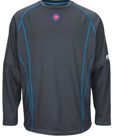 Men's Chicago Cubs Authentic Collection Fashion Practice Pullover