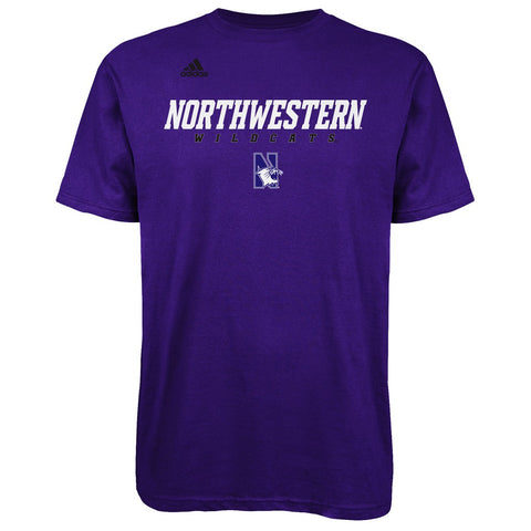 adidas Northwestern Wildcats Sideline Go To Purple T-Shirt