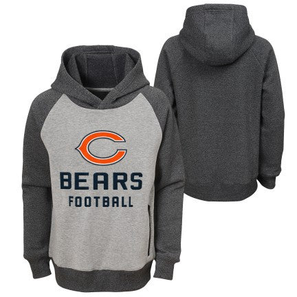 Youth Chicago bears Chicago Bears Foundation Raglan Pullover Hoodie