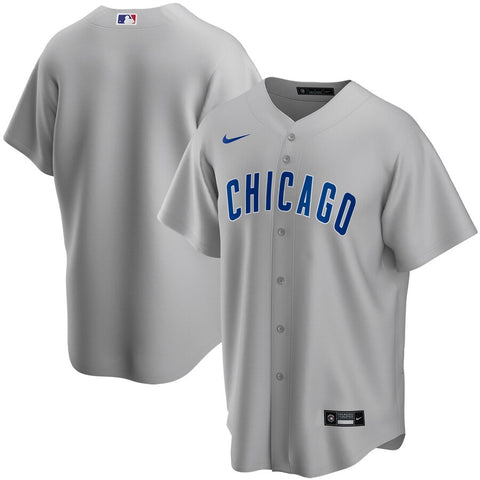 Men's Chicago Cubs Nike Gray Road Replica Team Jersey