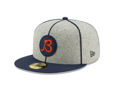 "Chicago Bears Established 2019 On Field 1920 Sideline ""B"" Logo Home 59FIFTY Fitted Hat"