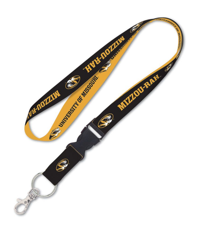 Missouri Tigers Double Sided Lanyard With Detachable Buckle