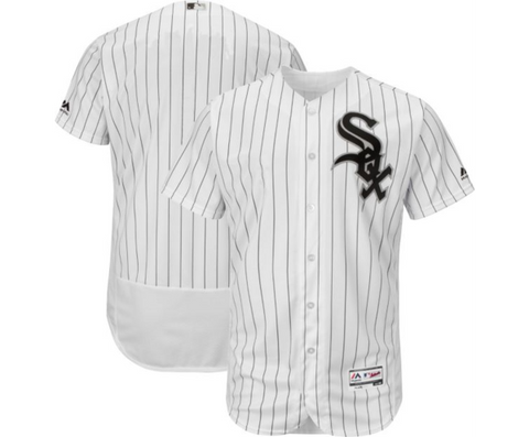 Mens Chicago White Sox Authentic Home Blank Flex Base Jersey