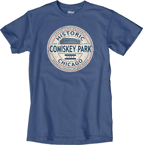 Men's Comiskey Park Historic Stadium Pacific Blue Tee By Blue 84