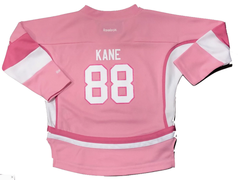 Chicago Blackhawks Patrick Kane Infant PINK Replica Player Jersey