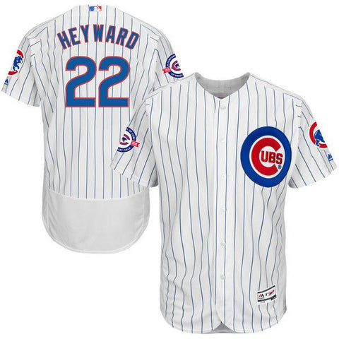 Chicago Cubs Jason Heyward Home Flexbase Authentic Jersey with 100 Years at Wrigley Field Commemorative Patch