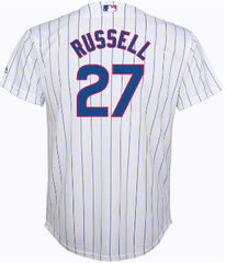 Addison Russell Chicago Cubs Youth Home Cool Base Replica Jersey By Majestic, WHITE, S