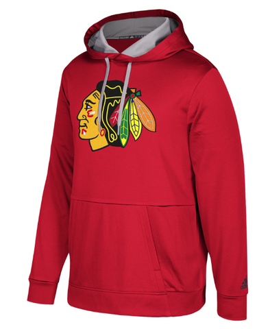 Men's Adidas Chicago Blackhawks Red Performance Pullover Hoodie