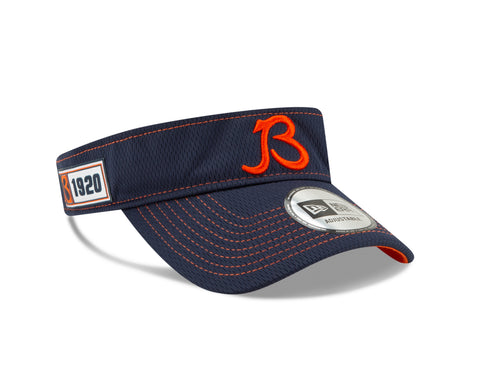 "Chicago Bears On Field 2019 Established ""B"" Logo Road Adjustable Visor"