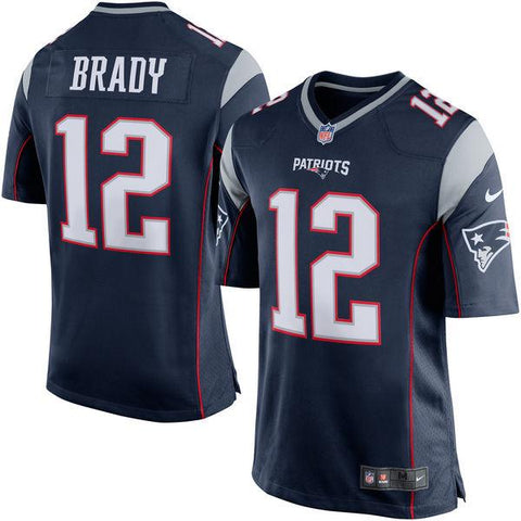 Men's New England Patriots Tom Brady Nike Navy Blue/Silver Game Jersey