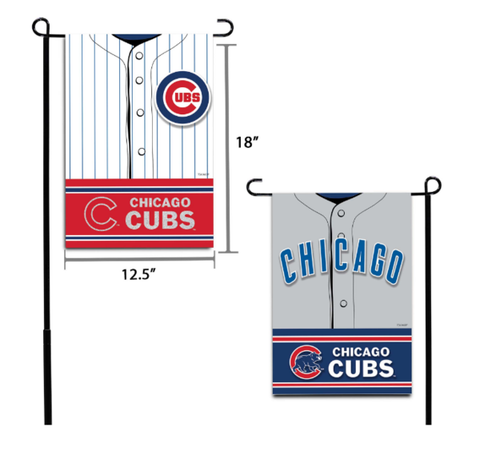 "Chicago Cubs MLB 12.5X18"" Decorative Jersey Garden Flag"