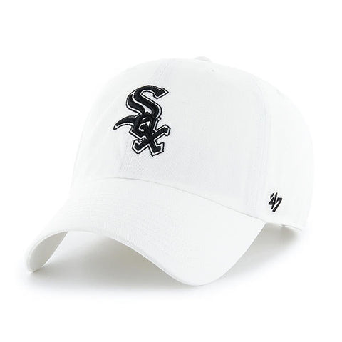 '47 Brand Chicago White SoxMLB White CLEAN UP Strapback Cap