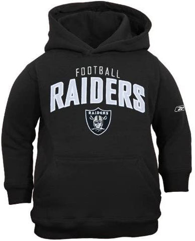 Youth Reebok Las Vegas Raiders Black Tackle Twill Hoody Sweatshirt