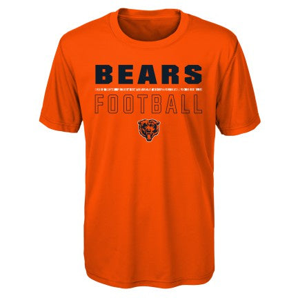 Chicago Bears Youth Orange Launch Dri-Tek Short Sleeve Tee