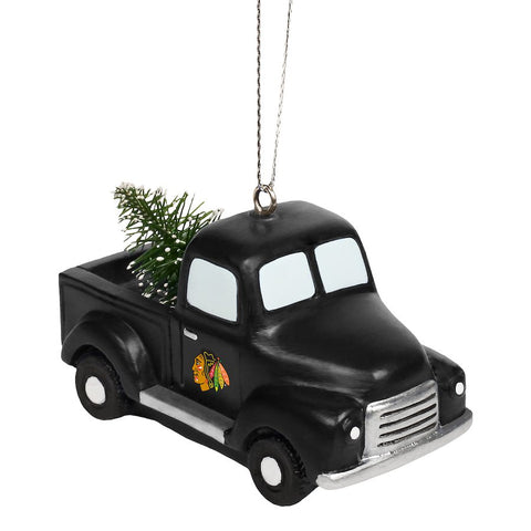 Chicago Blackhawks Truck With Tree Ornament