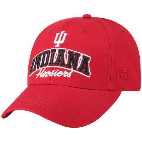 Mens Indiana Hoosiers Advisor Adjustable Hat By Top Of The World