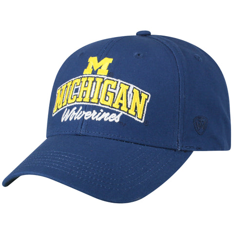 Mens Michigan Wolverines Advisor Adjustable Hat By Top Of The World