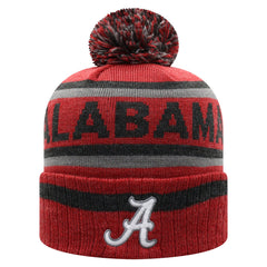 Alabama Crimson Tide NCAA Top of the World Buddy Cuffed Knit Hat