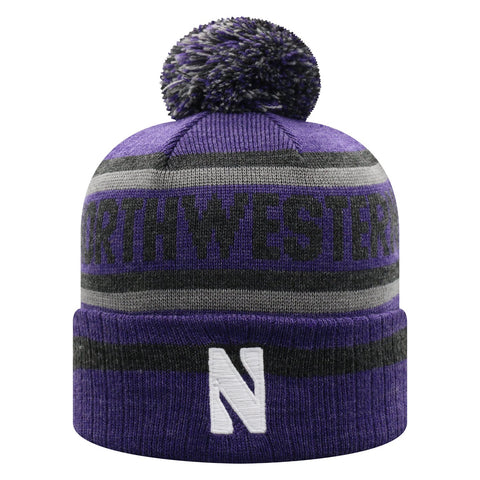 Northwestern Wildcats NCAA Top of the World Buddy Cuffed Knit Hat