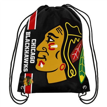 Chicago Blackhawks Big Logo Drawstring Backpack - Pro Jersey Sports