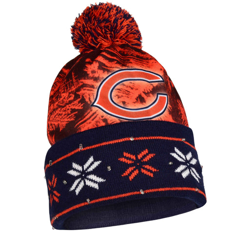 Chicago Bears Official NFL Big Logo Beanie Stocking Stretch Knit Sock Hat by Forever Collectibles