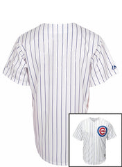 Custom Chicago Cubs Youth Home Pinstripe Replica Cool Base Jersey