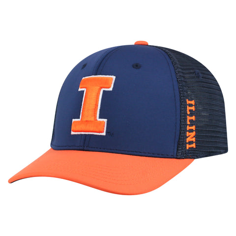 Mens Illinois Fighting Illini Chatter One Fit Flex Fit Hat By Top Of The World