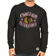 Chicago Blackhawks Adult Distressed Long Sleeve Logo Shirt