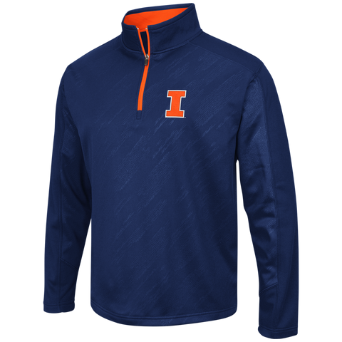 Illinois Fighting Illini Performance Fleece 1/4 Zip Track Jacket By Colosseum Athletics