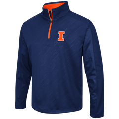 Illinois Fighting Illini Performance Fleece 1/4 Zip Track Jacket By Colosseum Athletics - Pro Jersey Sports