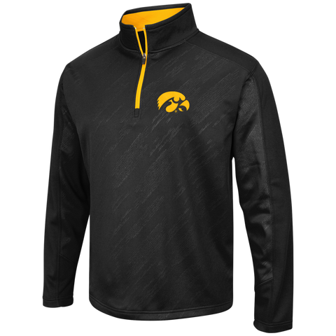 Iowa Hawkeyes Performance Fleece 1/4 Zip Track Jacket By Colosseum Athletics