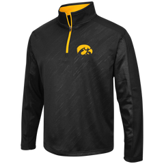 Iowa Hawkeyes Performance Fleece 1/4 Zip Track Jacket By Colosseum Athletics - Pro Jersey Sports