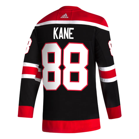 Men's Chicago Blackhawks Patrick Kane adidas Black Reverse Retro Premium Twill Authentic Team Jersey