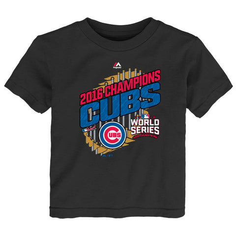 Chicago Cubs 2016 World Series Champions Toddler Parade T-Shirt By Majestic