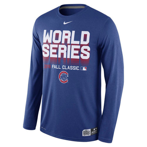 Chicago Cubs 2016 World Series Long Sleeve Dri-Fit Shirt by Nike