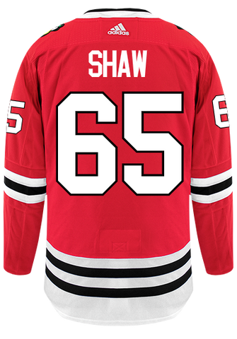 Men's Andrew Shaw Chicago Blackhawks Home Red Adidas Authentic Jersey (updated collar)