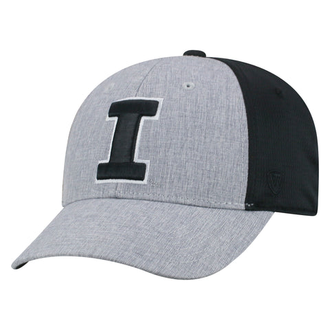Mens Illinois Fighting Illini Fabooia One Fit Flex Fit Hat By Top Of The World