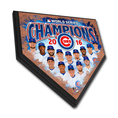 Chicago Cubs 2016 World Series Champions Home Plate Plaque - Pro Jersey Sports
