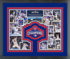 "Chicago Cubs 2016 World Series Champions Team Collage - 12"" x 15"" - Pro Jersey Sports"