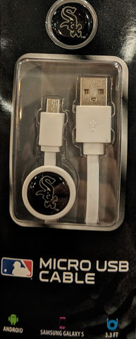Mizco MLB Chicago White Sox Micro USB to USB Charge and Sync Cable