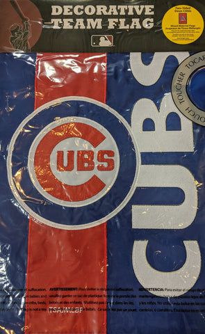 MLB Chicago Cubs Garden Flag 2 Sided Embellished Logo