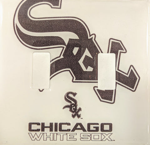 Chicago White Sox Double Light Switch Plate Cover