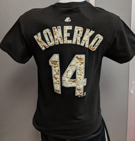 Chicago White Sox Paul Konerko Desert Camouflage Name & Number T-Shirt by Majestic Athletic