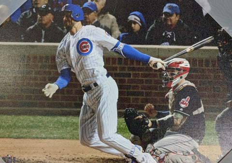 Chicago Cubs Kris Bryant 2016 World Series Action Shot 16X20 Canvas Photo Home Game