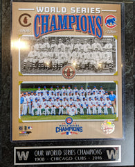 Chicago Cubs 1908 And 2016 Team Photo Plaque