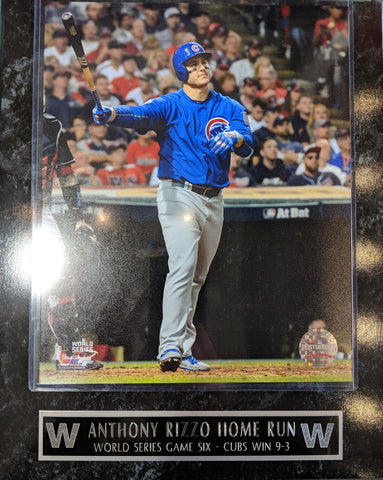 Anthony Rizzo Chicago Cubs 2016 World Series Game 6 Home Run Player Plaque