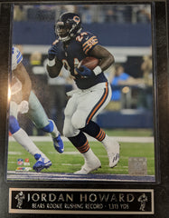 Jordan Howard Chicago Bears Rushing Record Plaque