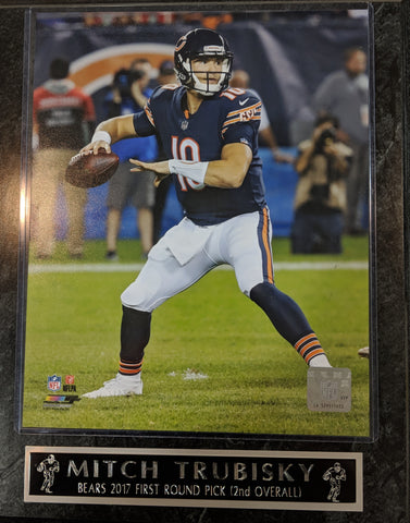 Mitchell Trubisky Chicago Bears First Round Pick Plaque