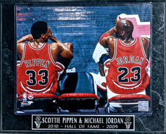 "Michael Jordan & Scottie Pippen Chicago Bulls ""2010-Hall of Fame-2009 Hall of Fame"" Wall Plaque"