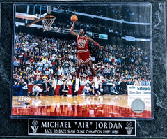 "Michael ""AIR"" Jordan Chicago Bulls ""Back To Back Slam Dunk Champion '89-'88 Wall Plaque"